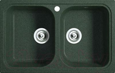 Мойка кухонная Belux KWD-8550-01 (темно-зеленый)