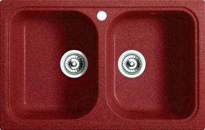 Мойка кухонная Belux KWD-8550-01 (красный)