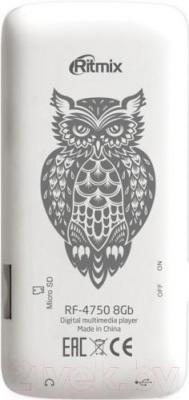 MP3-плеер Ritmix RF-4750 (8Gb, белый) - вид сзади