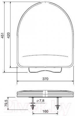 Сиденье для унитаза ОРИО КВ1-1 (белый)