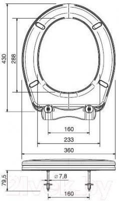 Сиденье для унитаза ОРИО К-09 (бирюзовый)