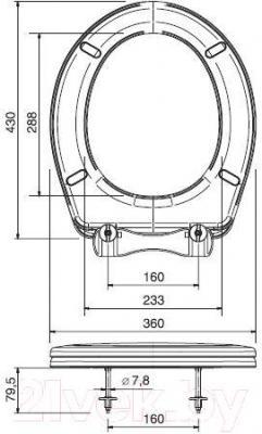 Сиденье для унитаза ОРИО К-06 (перламутровый)