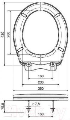 Сиденье для унитаза ОРИО К-03 (розовый)