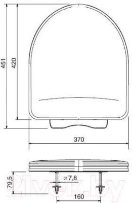 Сиденье для унитаза ОРИО КВ1-4 (салатовый)