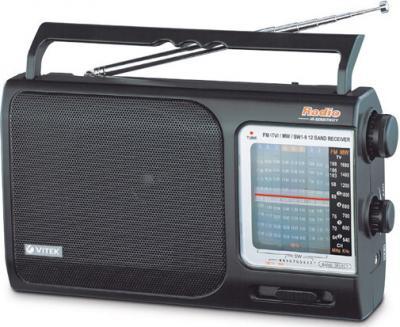 Радиоприемник Vitek VT-3582 (черный) - общий вид