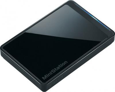 Внешний жесткий диск Buffalo MiniStation HD-PCU2 500GB Black (HD-PC500U2B) - общий вид