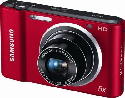Компактный фотоаппарат Samsung ST66 (EC-ST66ZZBPRRU) Red - общий вид