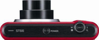 Компактный фотоаппарат Samsung ST66 (EC-ST66ZZBPRRU) Red - вид сверху