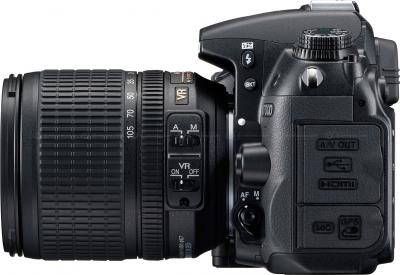 Зеркальный фотоаппарат Nikon D7000 Kit 18-105mm VR - вид сбоку