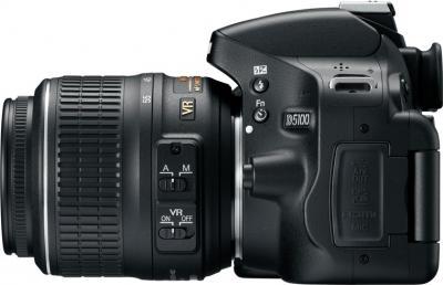Зеркальный фотоаппарат Nikon D5100 Kit 18-55mm VR - вид сбоку