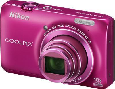 Компактный фотоаппарат Nikon Coolpix S6300 (Pink) - общий вид