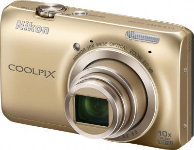 Компактный фотоаппарат Nikon Coolpix S6300 (Gold) - общий вид