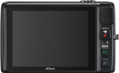 Компактный фотоаппарат Nikon Coolpix S4300 (Black) - вид сзади