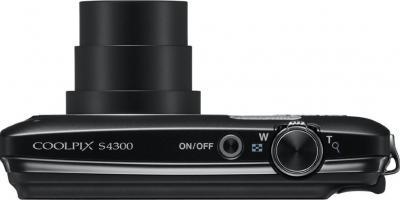 Компактный фотоаппарат Nikon Coolpix S4300 (Black) - вид сверху