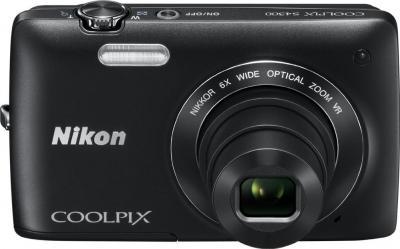Компактный фотоаппарат Nikon Coolpix S4300 (Black) - вид спереди