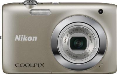 Компактный фотоаппарат Nikon Coolpix S4300 Silver - вид спереди