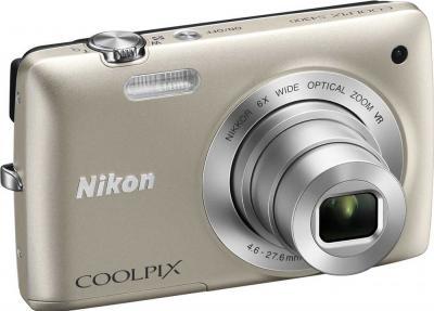 Компактный фотоаппарат Nikon Coolpix S4300 Silver - общий вид