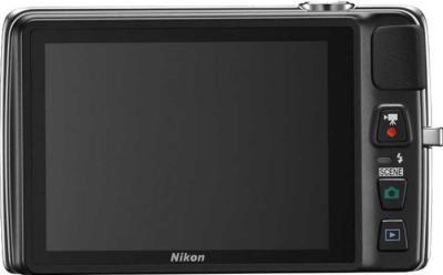 Компактный фотоаппарат Nikon Coolpix S4300 Silver - вид сзади