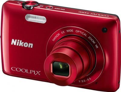 Компактный фотоаппарат Nikon Coolpix S4300 Red - общий вид