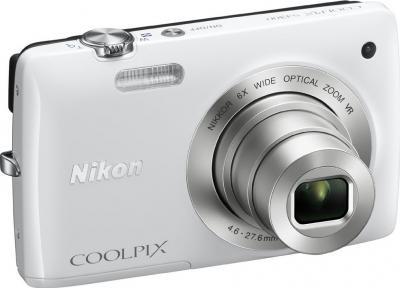 Компактный фотоаппарат Nikon Coolpix S4300 White - общий вид