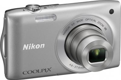 Компактный фотоаппарат Nikon Coolpix S3300 (Silver) - общий вид