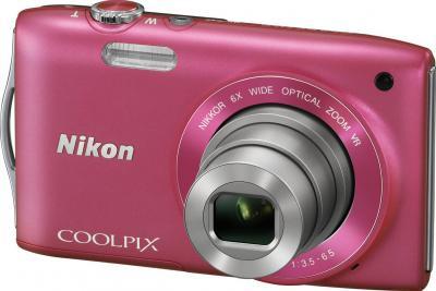 Компактный фотоаппарат Nikon Coolpix S3300 Pink - общий вид