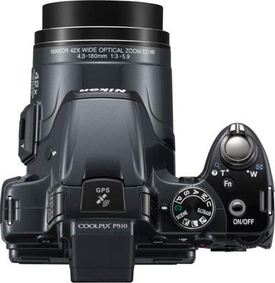 Компактный фотоаппарат Nikon Coolpix P510 Silver - вид сверху