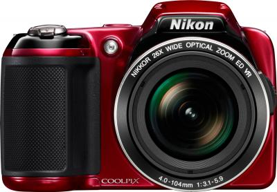 Компактный фотоаппарат Nikon COOLPIX P510 Red - вид спереди