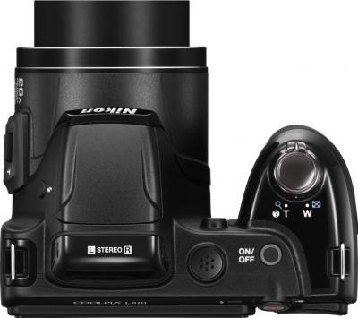 Компактный фотоаппарат Nikon Coolpix L810 (Black) - вид сверху