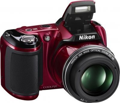 Компактный фотоаппарат Nikon Coolpix L810 Red - Общий вид