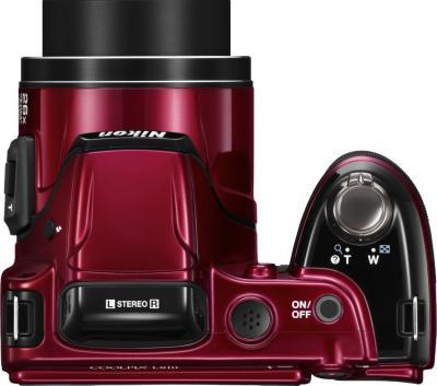 Компактный фотоаппарат Nikon Coolpix L810 Red - Вид сверху