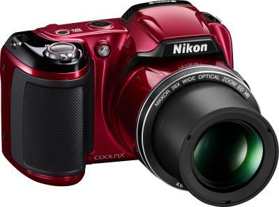 Компактный фотоаппарат Nikon Coolpix L810 Red - Вид сбоку