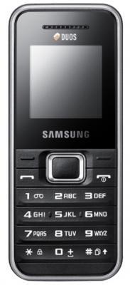 Мобильный телефон Samsung E1232 Black (GT-E1232 BKDSER) - вид спереди