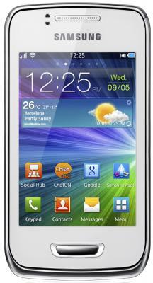 Смартфон Samsung S5380 Wave Y White (GT-S5380 PWDSER) - вид спереди