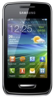 Смартфон Samsung S5380 Wave Y Silver (GT-S5380 SSDSER) - вид спереди
