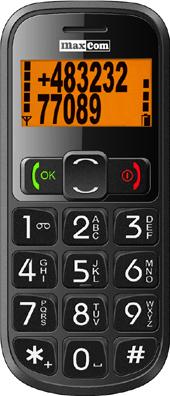 Мобильный телефон MaxCom ММ430ВВ - вид спереди