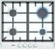 Газовая варочная панель Bosch PCP612B90E -