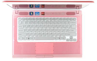 Ноутбук Sony VAIO VPC-CA4S1R/P - сверху