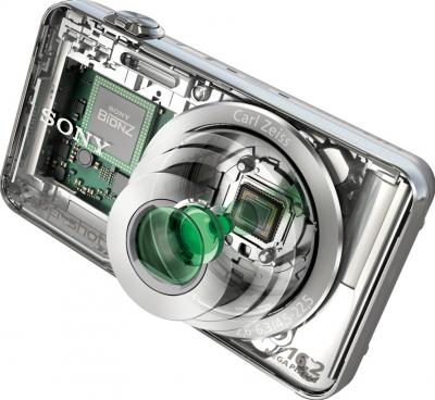 Компактный фотоаппарат Sony Cyber-shot DSC-WX50 Silver - общий вид
