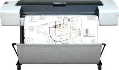 Плоттер HP Designjet T1120 (CK837A) - в работе