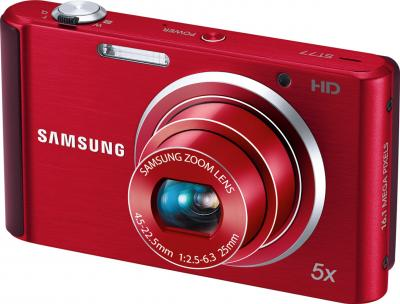 Компактный фотоаппарат Samsung ST77 (ЕС-SТ77ZZBPRRU) - общий вид