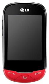 Мобильный телефон LG T500 Red - вид спереди
