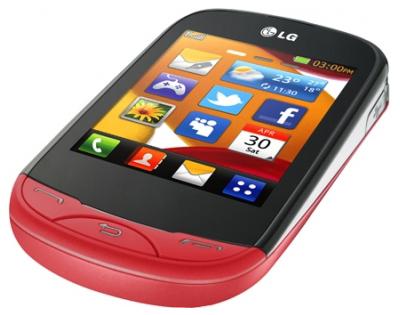 Мобильный телефон LG T500 Red - общий вид