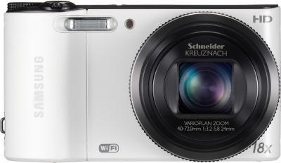 Компактный фотоаппарат Samsung WB150F White (EC-WB150FBPWRU) - вид спереди