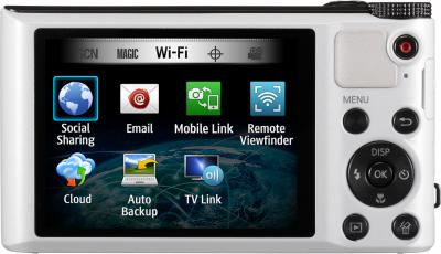 Компактный фотоаппарат Samsung WB150F White (EC-WB150FBPWRU) - вид сзади