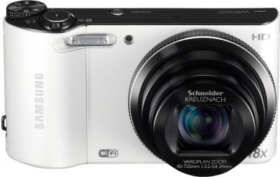 Компактный фотоаппарат Samsung WB150F White (EC-WB150FBPWRU) - общий вид