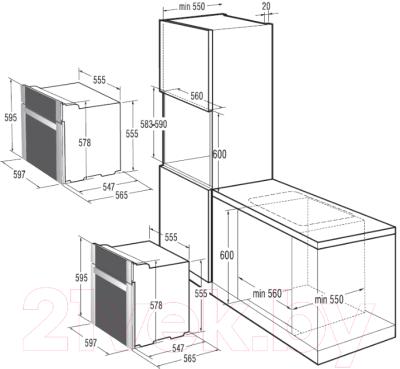 Электрический духовой шкаф Gorenje BO5333RW