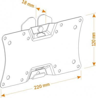 Кронштейн для телевизора Holder LCDS-5060 - схематическое изображение