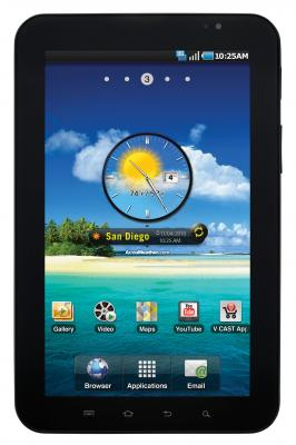Планшет Samsung Galaxy Tab 7.0 Plus 16GB 3G Metallic Gray (GT-P6200) - вид спереди