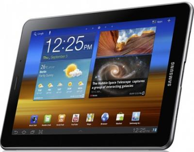 Планшет Samsung Galaxy Tab 7.0 Plus 16GB Metallic Gray (GT-P6210) - спереди